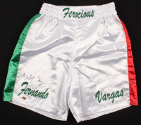 Fernando Vargas Signed Boxing Trunks (MAB Hologram) at PristineAuction.com