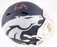 Noah Fant Signed Broncos Full-Size AMP Alternate Speed Helmet (JSA COA) at PristineAuction.com