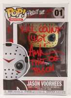 "Ari Lehman Signed ""Friday the 13th"" - Jason Voorhees #01 Funko Pop! Vinyl Figure Inscribed ""Kill Count 146!"" & ""The OG Jason"" (PA COA) at PristineAuction.com"