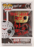 "Ari Lehman Signed ""Friday the 13th"" - Jason Voorhees #01 Funko Pop! Vinyl Figure Inscribed ""Jason Never Dies!"" & ""The OG Jason"" (PA COA) at PristineAuction.com"