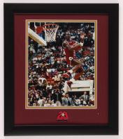 Michael Jordan Bulls 13x15 Custom Framed Photo Display with 6x Champion Pin at PristineAuction.com