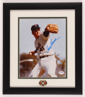 Tom Seaver Signed Mets 13x15 Custom Framed Photo Display with Hall of Fame Pin (PSA Hologram) at PristineAuction.com