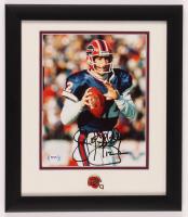 Jim Kelly Signed Bills 13x15 Custom Framed Photo Display with Bills Pin (PSA COA) at PristineAuction.com