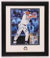 George Brett Signed Royals 13x15 Custom Framed Photo Display with Hall of Fame Pin (PSA COA) at PristineAuction.com