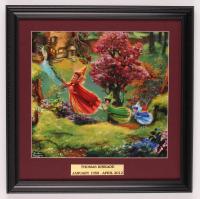 "Thomas Kinkade Walt Disney's ""Sleeping Beauty"" 15.5x16 Custom Framed Print Display at PristineAuction.com"