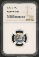 1940-S 10¢ Mercury Silver Dime (NGC MS 66+ FB PL) at PristineAuction.com