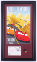 "Disneyland ""Radiator Springs Racers"" 15.5x26.5 Custom Framed Print Display with Grand Opening Day Envelope & Pin at PristineAuction.com"