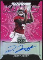 Jerry Jeudy 2020 Leaf Metal Draft Touchdown Kings Prismatic Pink #TKJJ1 at PristineAuction.com