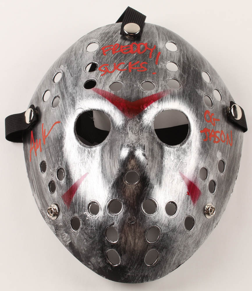 "Ari Lehman Signed ""Friday the 13th"" Jason Voorhees Mask Inscribed ""Freddy Sucks!"" & ""OG Jason"" (PA COA) at PristineAuction.com"