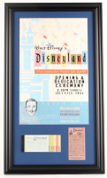 Disneyland 15.5x26.5 Custom Framed Print Display with1960's Ticket Book & .25 Parking Pass at PristineAuction.com