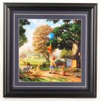 "Thomas Kinkade Walt Disney's ""Winnie-the-Pooh"" 16.5x16.5 Custom Framed Print Display at PristineAuction.com"