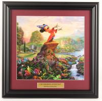 "Thomas Kinkade Walt Disney's ""The Sorcerer's Apprentice"" 16.5x16.5 Custom Framed Print Display at PristineAuction.com"