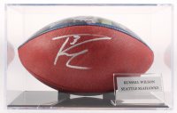"""Russell Wilson Signed Official NFL """"The Duke"""" Game Ball with Display Case (Wilson Hologram) at PristineAuction.com"""