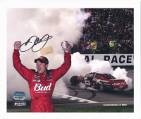 Dale Earnhardt Jr. Signed LE NASCAR 8x10 Photo (Mounted Memories Hologram & Earnhardt Jr. Hologram) at PristineAuction.com