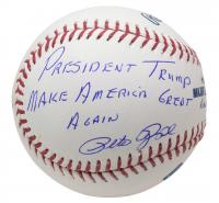 "Pete Rose Signed OML Baseball Inscribed ""President Trump Make America Great Again"" (JSA COA) at PristineAuction.com"