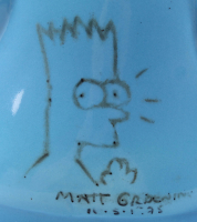 "Matt Groening Signed Bart Simpson Porcelain Cookie Jar Inscribed ""11-5-1995"" (Beckett Hologram) at PristineAuction.com"
