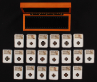 20 Different Roman Coins Collection (NGC Encapsulated) with Wooden Case at PristineAuction.com