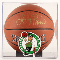 Larry Bird Signed NBA Basketball with Display Case (PSA COA & Bird Hologram) at PristineAuction.com