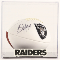Bo Jackson Signed Raiders Logo Football with Display Case (Beckett COA) at PristineAuction.com