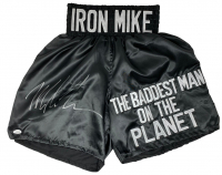 "Mike Tyson Signed ""The Baddest Man on the Planet"" Boxing Trunks (JSA COA) at PristineAuction.com"