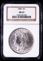 1886 Morgan Silver Dollar (NGC MS63) at PristineAuction.com