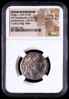 Philip I (c.95-75 BC) Ancient Seleucid Kingdom - AR Silver Tetradrachm (NGC Fine) at PristineAuction.com