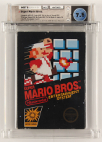 "1985 ""Super Mario Bros"" Nintendo Video Game (WATA 7.5) at PristineAuction.com"