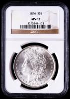 1896 Morgan Silver Dollar (NGC MS62) at PristineAuction.com