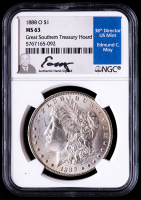 1888-O Morgan Silver Dollar - Great Southern Treasury Hoard (NGC MS63) (Moy Signed Label) at PristineAuction.com