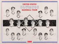 1988 US Olympic 23x28 Print Poster Team-Signed by (20) with Tino Martinez, Jim Abbott, Robin Ventura, Bret Barberie (SOP LOA) at PristineAuction.com