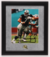 Howie Long Signed Raiders 13x15 Custom Framed Photo With Pin (PSA COA) at PristineAuction.com