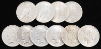 Lot of (10) Peace Silver Dollars with (3) 1922, 1922-D, 1922-S, 1923-S, 1925, 1926-S & 1928 at PristineAuction.com