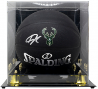 Giannis Antetokounmpo Signed Arena Series Black Basketball with High-Quality Display Case (JSA COA) at PristineAuction.com