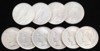 Lot of (10) Peace Silver Dollars with (2) 1922, (2) 1922-S, (2) 1923, 1923-S, 1923-D 1924 & 1926 at PristineAuction.com