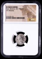 Sept. Severus AD 193-211 - Roman Empire AR Denarius Silver Coin (NGC Encapsulated) at PristineAuction.com