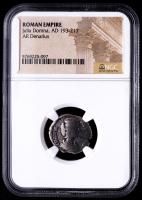 Julia Domna,  AD 193-217 - Roman Empire AR Denarius Silver Coin (NGC Encapsulated) at PristineAuction.com