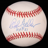"Bob Feller Signed OAL Baseball Inscribed ""H.O.F. 62"" (Beckett COA) at PristineAuction.com"