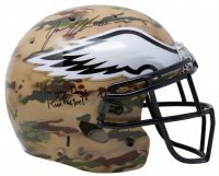 "Jason Kelce Signed Eagles Full-Size Authentic On-Field Camo Helmet Inscribed ""Hungry Dogs Run Faster!"" (JSA COA) at PristineAuction.com"