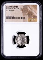 Gordian III, AD 238-244 - Roman Empire AR Denarius Silver Coin (NGC Encapsulated) at PristineAuction.com