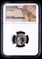 Gordian III, AD 238-244 - Roman Empire AR Denarius Silver Coin (NGC Encapsulated) at PristineAuction.com