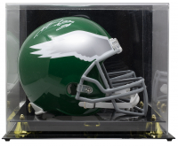 Miles Sanders Signed Eagles Full-Size Throwback Helmet with Display Case (JSA COA) at PristineAuction.com