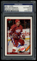 Brad McCrimmon Signed 1991-92 Topps #79 (PSA Encapsulated) at PristineAuction.com