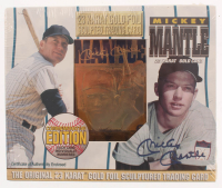 Mickey Mantle LE 23KT Gold Baseball Card with Original Packaging at PristineAuction.com