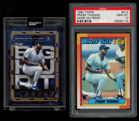 Lot of (2) Frank Thomas Topps Baseball Cards with (1) 1990 #414B RC (PSA 10) & (1) 2020 Project #23 Ben Baller (Project 2020 Encapsulated) at PristineAuction.com