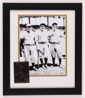 Babe Ruth & Lou Gehrig Yankees 13x15 Custom Framed Photo with 23 KT Gold Card at PristineAuction.com