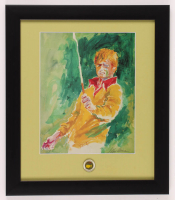 "LeRoy Neiman ""Jack Nicklaus"" 13x15 Custom Framed Print Display with Official Masters Tournament Pin at PristineAuction.com"
