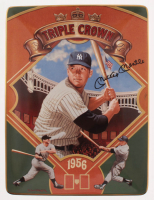 """Mickey Mantle LE Yankees """"Triple Crown"""" 1956 Porcelain Plate at PristineAuction.com"""