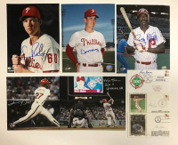 Lot of (10) Signed Baseball Flats with (7) 8x10 Photos & (3) FDC Envelopes (Stacks Of Plaques LOA) at PristineAuction.com