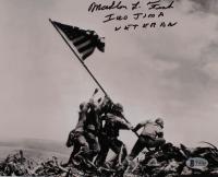 "Mahlon Fink Signed 8x10 Photo Inscribed ""Iowa Jima Veteran"" (Beckett COA) at PristineAuction.com"