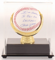 "Pete Rose Signed OML Baseball Inscribed ""I'm Sorry I Bet On Baseball"" with Display Case (JSA COA) at PristineAuction.com"
